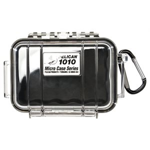 PELICAN # 1010 MICRO CASE - CLEAR WITH BLACK