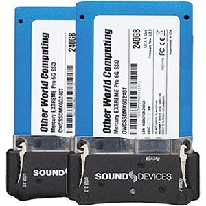SOUND DEVICES Caddy Pack Includes 2 2.5 PIX-SSD-6 240 Gig 2.5 SATA Drives pre-mounted to caddy